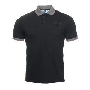 Polo Shirt Black Grey collar
