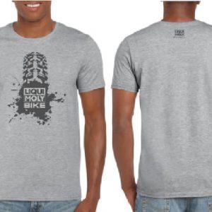 Cycling Bike T-Rubber T-Shirt Grey